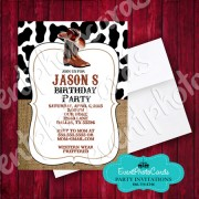 Cowboy Invitation - Sweet 16