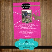Cowgirl Quinceanera Photo Invitations