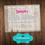 Western Lace Rustic Reservation Card