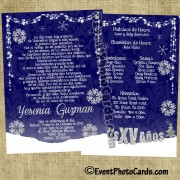 Winter Wonderland Quinceanera Invitations - Royal Blue