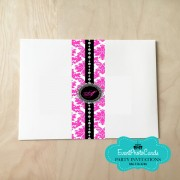 Pink Damask Envelope Wrap