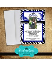 Zebra Invitations Purple - Photo Quinceanera