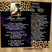 Leopard & Black  - Quinceanera Invitations